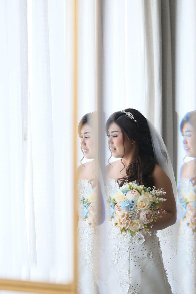 Artificial Wedding Hand bouquet - Peach Peony & Cream Rose by raia_fleurs - 003