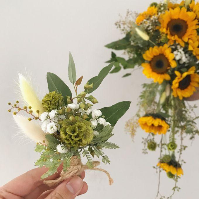 Cascading Sunflower Bridal Bouquet by Eufloria - 003