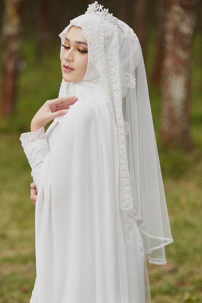 Akad Hijrah Series 04 Busana Syari Akad by LAKSMI - Kebaya Muslimah & Islamic Bride - 005
