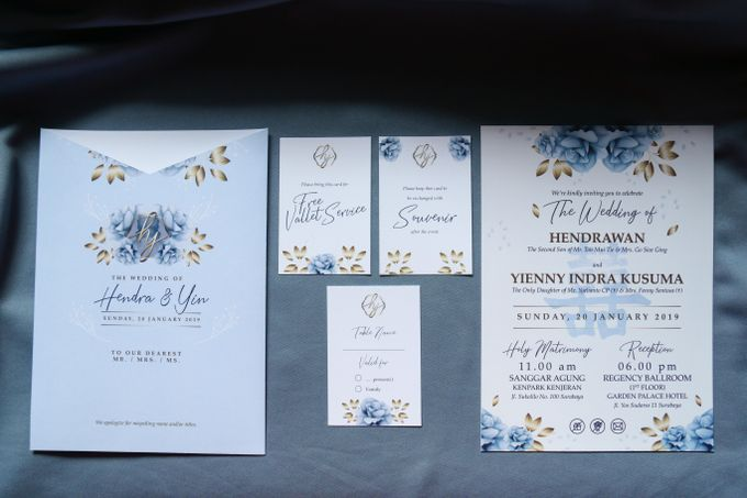 Hendra & Yin Wedding Invitation by Sweet Memoire - 001
