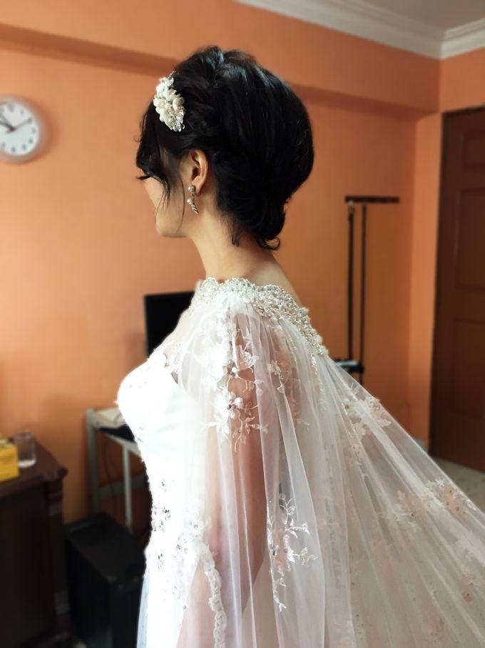 Bridal Short Hair Hairstyles by Sylvia Koh Makeup and Hairstyling - 005