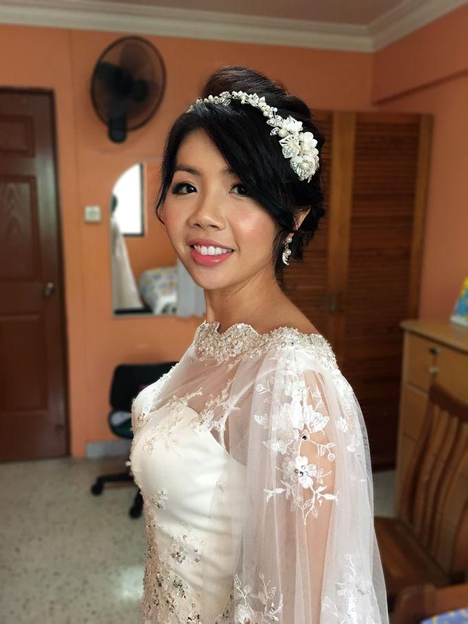 Bridal Short Hair Hairstyles by Sylvia Koh Makeup and Hairstyling - 004