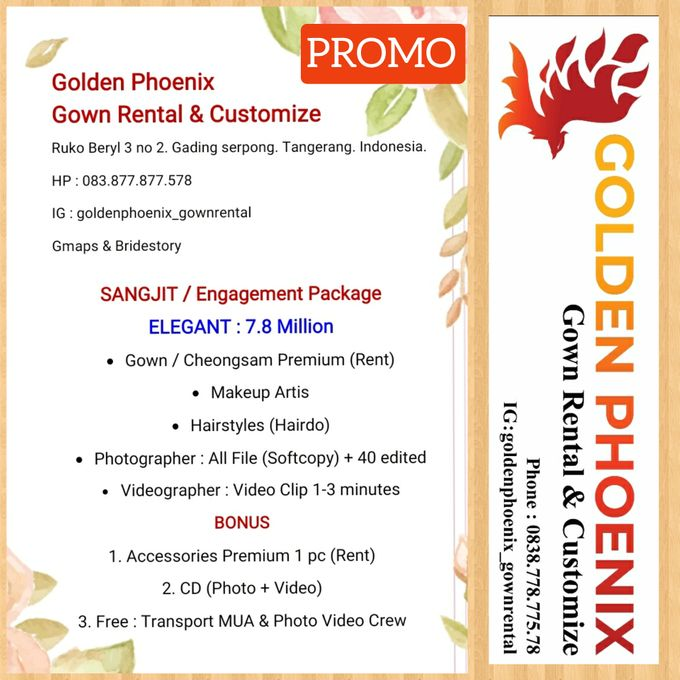Pricelist (Daftar Harga) by Golden Phoenix Rent Gown - 003