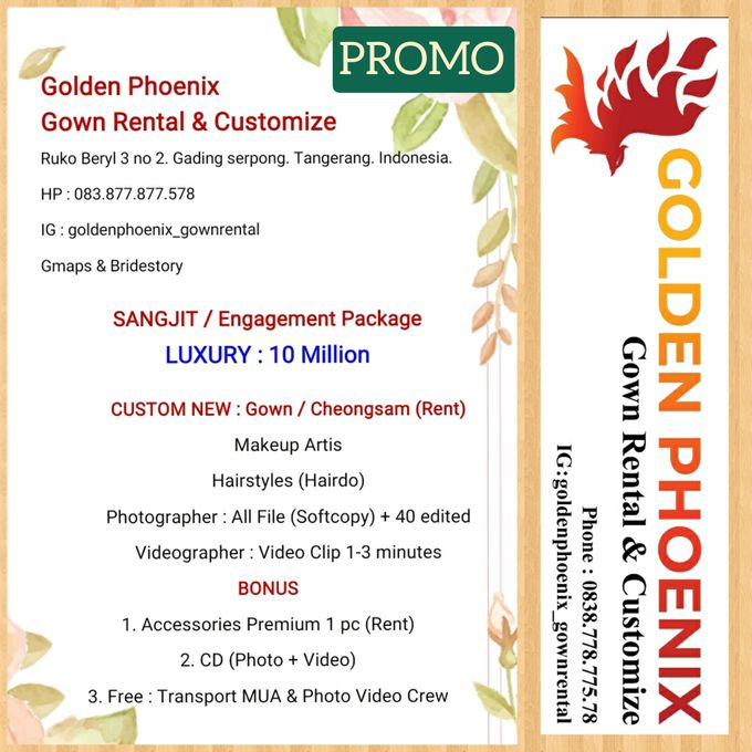 Pricelist (Daftar Harga) by Golden Phoenix Rent Gown - 002