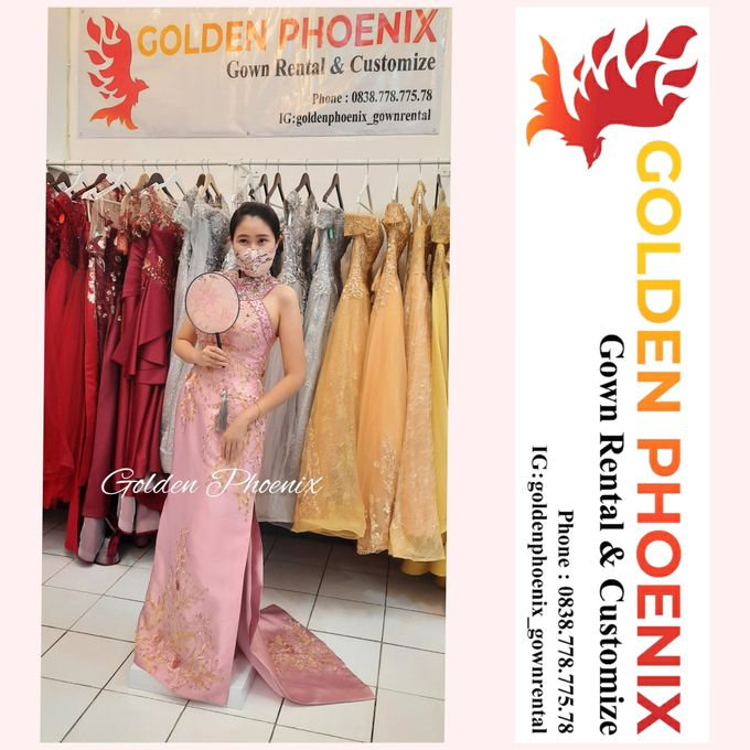 Cheongsam Qipao DRESS Sewa Gaun GownSangjit Teapai by Golden Phoenix Rent Gown - 009