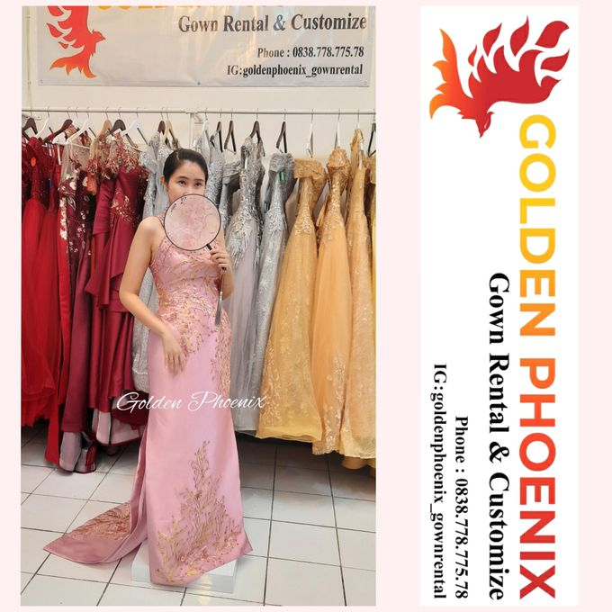 Cheongsam Qipao DRESS Sewa Gaun GownSangjit Teapai by Golden Phoenix Rent Gown - 007