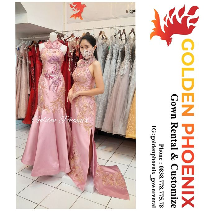 Cheongsam Qipao DRESS Sewa Gaun GownSangjit Teapai by Golden Phoenix Rent Gown - 008