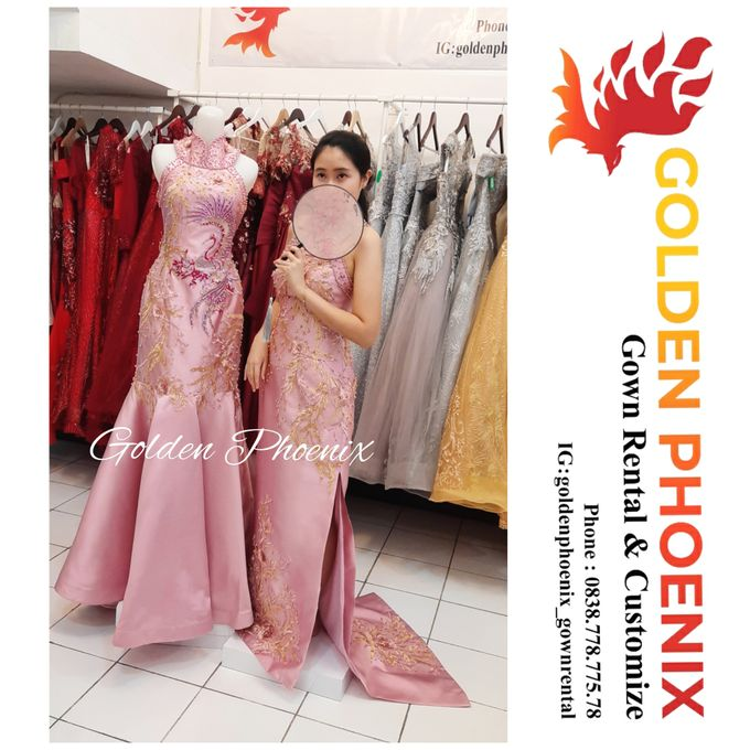 Cheongsam Qipao DRESS Sewa Gaun GownSangjit Teapai by Golden Phoenix Rent Gown - 006