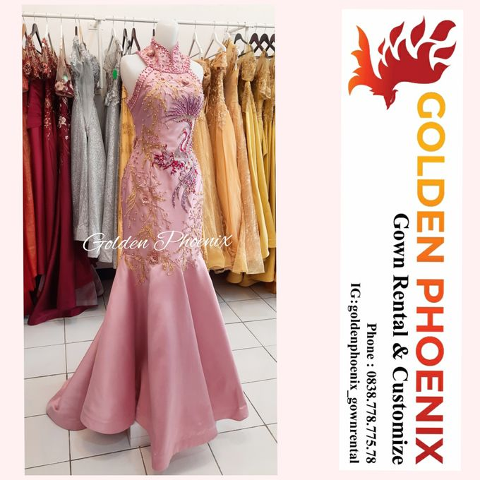 Cheongsam Qipao DRESS Sewa Gaun GownSangjit Teapai by Golden Phoenix Rent Gown - 002