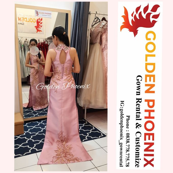 Cheongsam Qipao DRESS Sewa Gaun GownSangjit Teapai by Golden Phoenix Rent Gown - 004