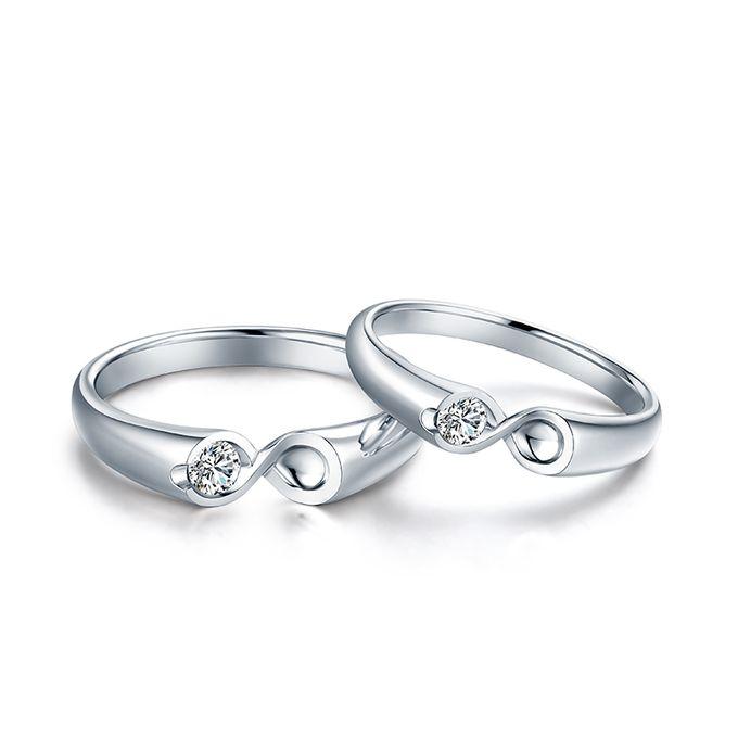 Tiaria Infinity Stare Diamond Ring Perhiasan Cincin Pernikahan Emas dan Berlian by TIARIA - 001