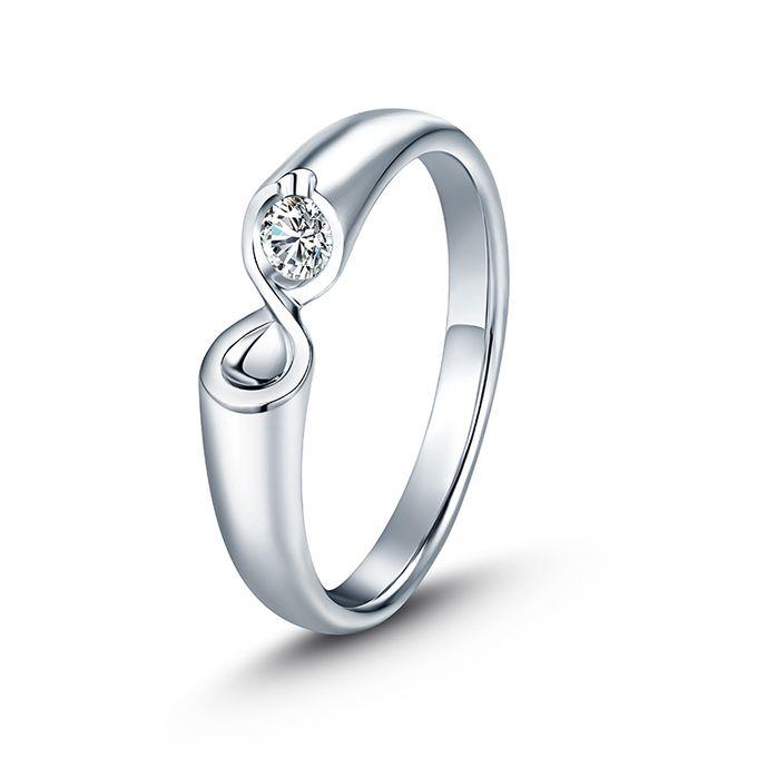 Tiaria Infinity Stare Diamond Ring Perhiasan Cincin Pernikahan Emas dan Berlian by TIARIA - 002