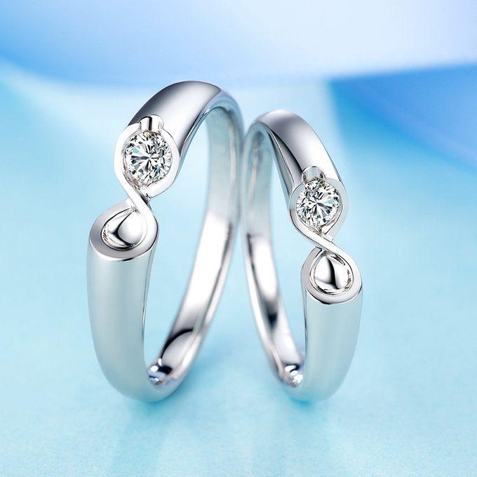 Tiaria Infinity Stare Diamond Ring Perhiasan Cincin Pernikahan Emas dan Berlian by TIARIA - 005