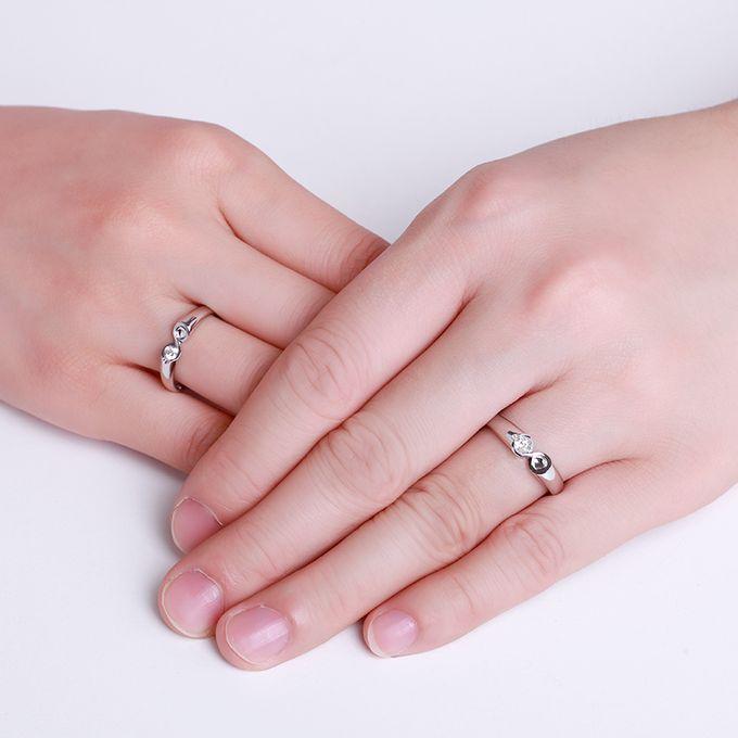 Tiaria Infinity Stare Diamond Ring Perhiasan Cincin Pernikahan Emas dan Berlian by TIARIA - 008