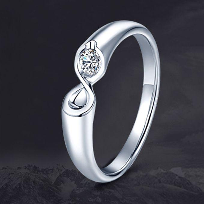 Tiaria Infinity Stare Diamond Ring Perhiasan Cincin Pernikahan Emas dan Berlian by TIARIA - 003