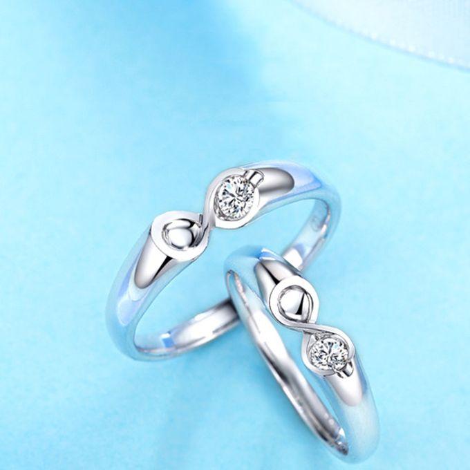 Tiaria Infinity Stare Diamond Ring Perhiasan Cincin Pernikahan Emas dan Berlian by TIARIA - 007