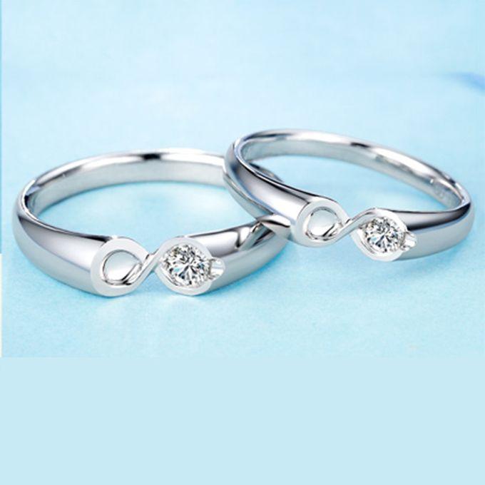 Tiaria Infinity Stare Diamond Ring Perhiasan Cincin Pernikahan Emas dan Berlian by TIARIA - 006