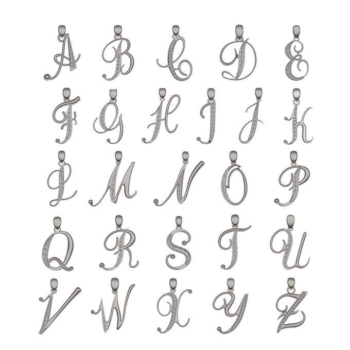Alphabet Diamond Pendant by Mirage Jeweler - 003