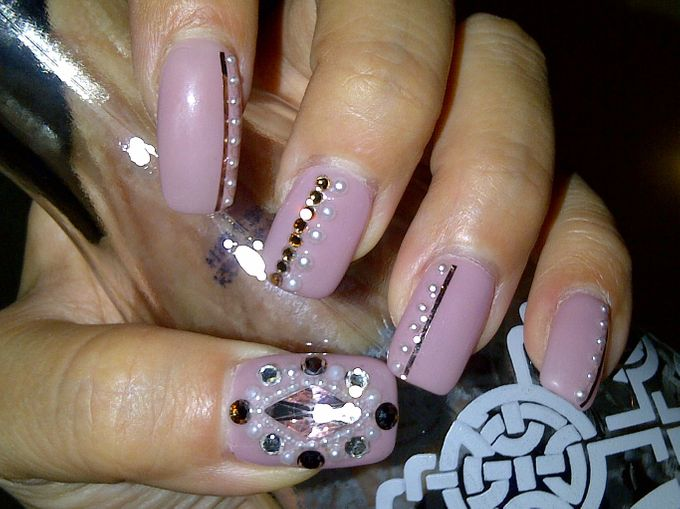 3D Nail art for wedding day by Luz Bello 3D Nail Art-Extension - 031