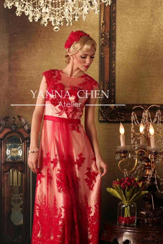 Engagement/ evening gown by YANNA CHEN ATELIER | Bridestory.com