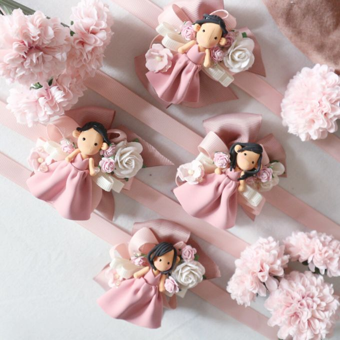 Blush Colour For Corsage And Wristband by de hijau hejo - 017