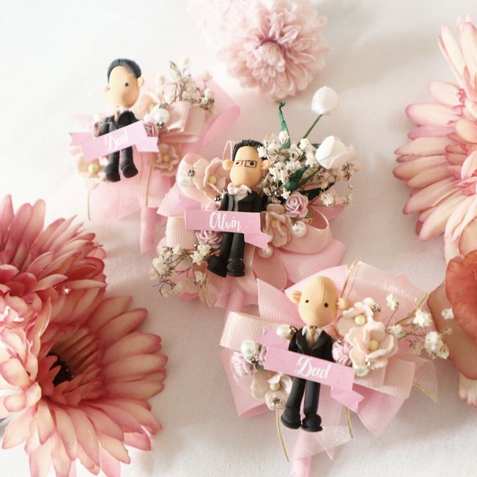 Blush Colour For Corsage And Wristband by de hijau hejo - 016