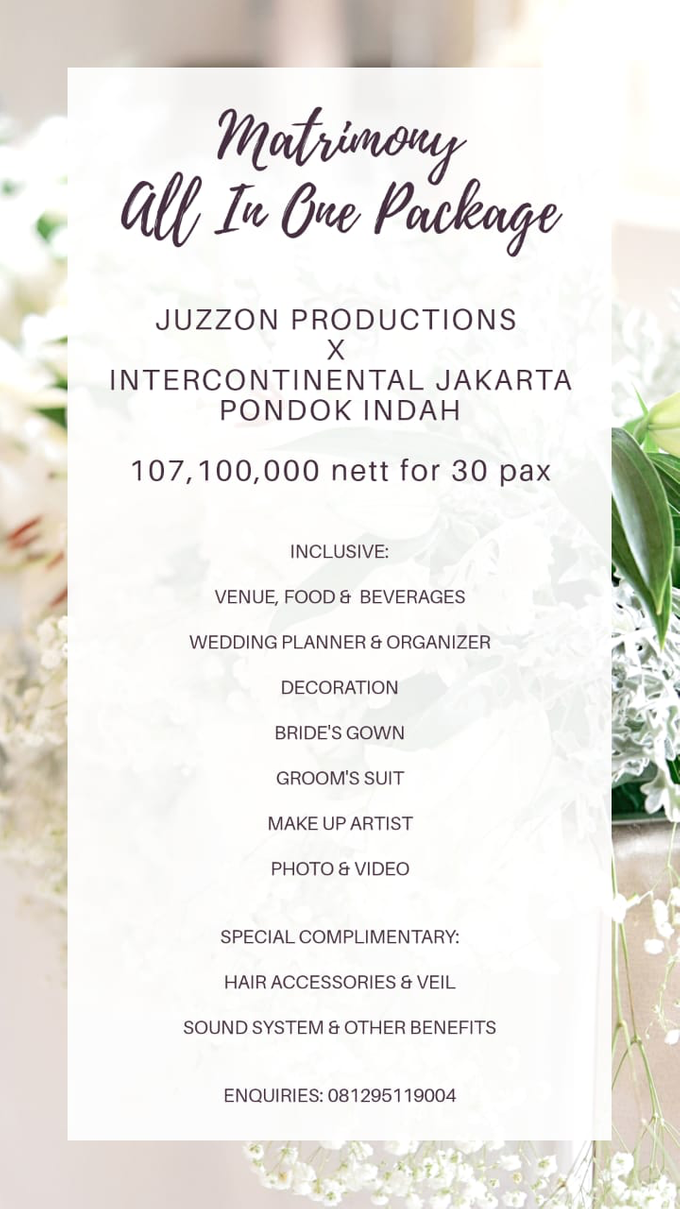 Collabs Package 2020 Akad Nikah & Holy Matrimony by InterContinental Jakarta Pondok Indah - 004