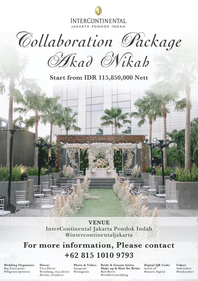 Collabs Package 2020 Akad Nikah & Holy Matrimony by InterContinental Jakarta Pondok Indah - 001