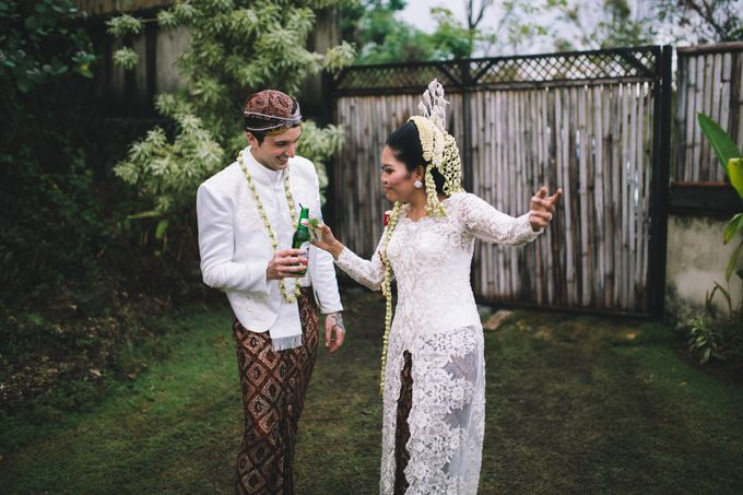 Javanese Traditional Wedding of Indonesian & Italian Nationalities in Bali by fire, wood & earth - 034