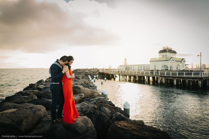 Isabella & Ricky Melbourne Prewedding by Elly Liana Makeup Artist - 013