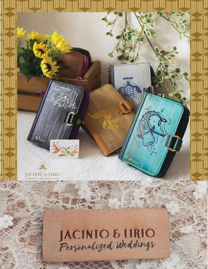 Personalized Wedding Gifts, Tokens and Souvenirs made from Vegan Leather by Jacintoandlirio - 010