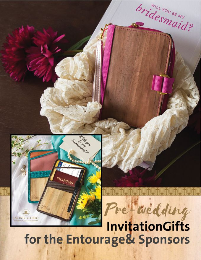 Personalized Wedding Gifts, Tokens and Souvenirs made from Vegan Leather by Jacintoandlirio - 020