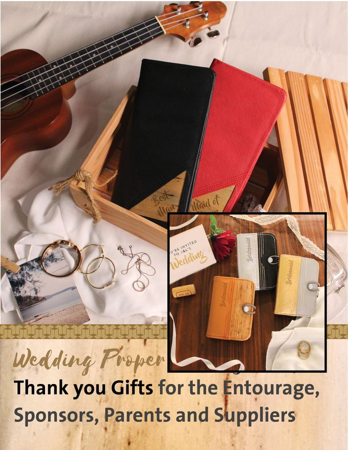 Personalized Wedding Gifts, Tokens and Souvenirs made from Vegan Leather by Jacintoandlirio - 018