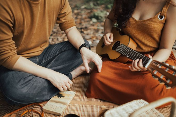 Forest Picnic Prewedding of Janissa & Kresna by fire, wood & earth - 029