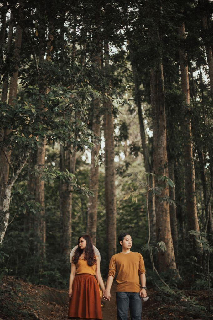 Forest Picnic Prewedding of Janissa & Kresna by fire, wood & earth - 037