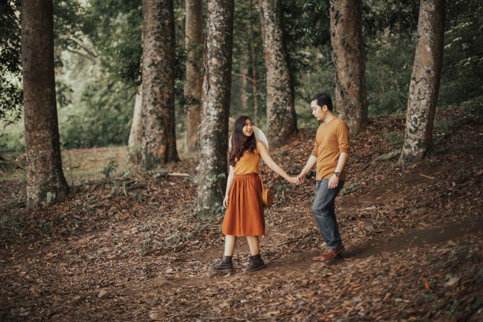 Forest Picnic Prewedding of Janissa & Kresna by fire, wood & earth - 038