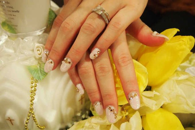 3D Nail art for wedding day by Luz Bello 3D Nail Art-Extension - 007