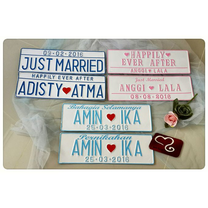 Wedding Car Plate by Sweetlovecollection - 006