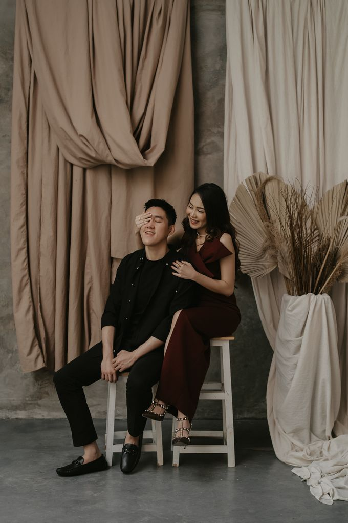 Prewedding of Nata & Sony at Dharmawangsa Studio by Warna Project - 016