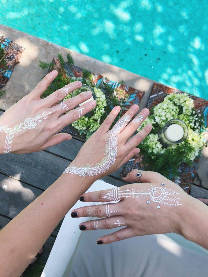 White Henna for Wedding by Nirvana Henna by Shinta - 001