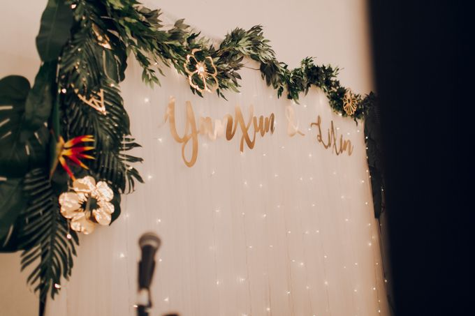 Tropical themed wedding reception by Amelia Soo photography - 003