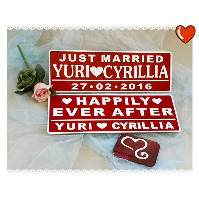 Wedding Car Plate by Sweetlovecollection - 007