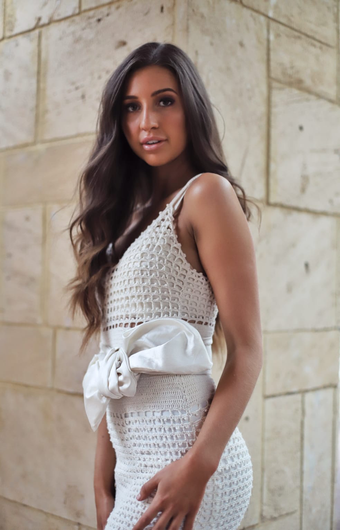 Cotton Crochet Gown by JRW Bridal - 002