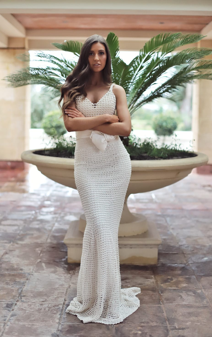 Cotton Crochet Gown by JRW Bridal - 001