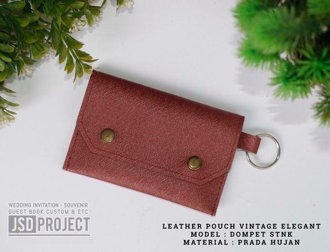 Mini Pouch Leather Vintage Elegant PVC Material Prada Hujan by JSD PROJECT (Invitation Card & Souvenir) - 004