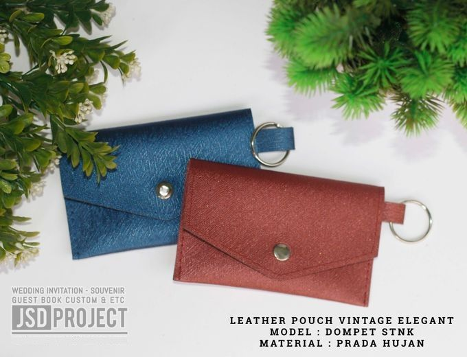 Mini Pouch Leather Vintage Elegant PVC Material Prada Hujan by JSD PROJECT (Invitation Card & Souvenir) - 005