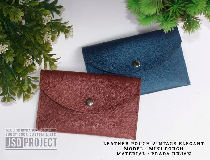 Mini Pouch Leather Vintage Elegant PVC Material Prada Hujan by JSD PROJECT (Invitation Card & Souvenir) - 001