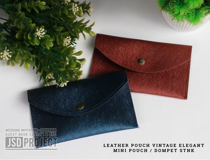 Mini Pouch Leather Vintage Elegant PVC Material Prada Hujan by JSD PROJECT (Invitation Card & Souvenir) - 002