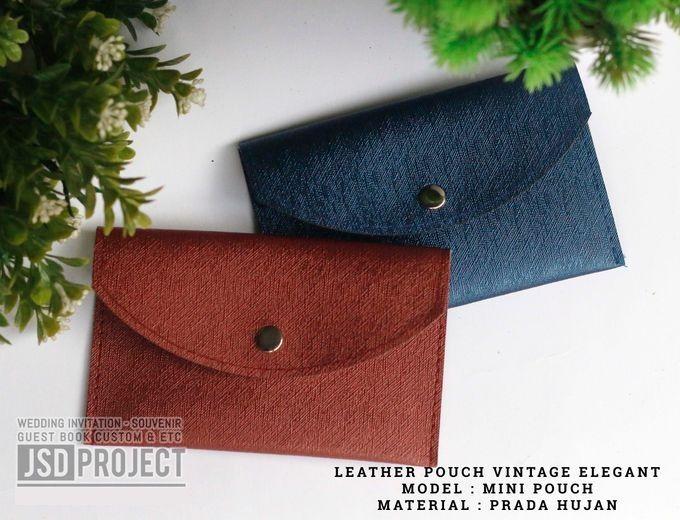 Mini Pouch Leather Vintage Elegant PVC Material Prada Hujan by JSD PROJECT (Invitation Card & Souvenir) - 003