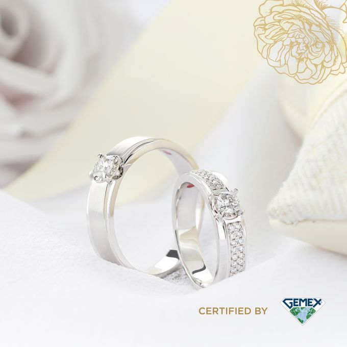 Rose DAmour Wedding Ring Eternal Flame with GemEx Certification by Adelle Jewellery - 005